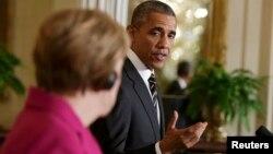 Prezident Barack Obama və Almaniya kansleri Angela Merkel Vaşinqtonda görüş keçiriblər.