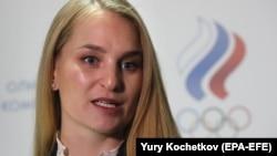 Председатель комиссии спортсменов ОКР, олимпийская чемпионка по фехтованию Софья Великая.