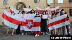 Беларускі ланцуг салідарнасьці ў Санкт-Пецярбургу, 27 чэрвеня