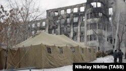 Здание ГУВД Самарской области наутро после пожара