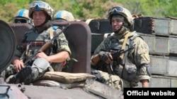 Украинские солдаты на востоке Украины