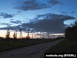 Вячэрні краявід на станцыі Гарадзея 15 траўня 2015