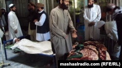 All of those wounded in the Khost blast are civilians, with several in critical condition.