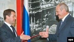 Дзьмітры Мядзьведзеў і Аляксандар Лукашэнка
