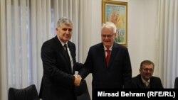Dragan Čović (L) i Ivo Josipović