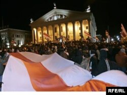 Акція протесту проти нечесних виборів у Білорусі. Мінськ, 2006 рік