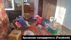 Наслідки обшуку в Ісмета Ібрагімова в Курцах Сімферопольського району 7 липня 2020 року