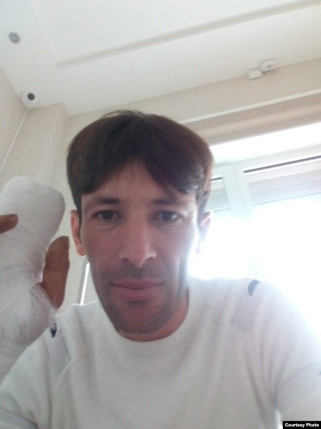 Азиз Муминов в больнице.