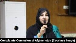 زهره بیان شینواری رئیس کمیسیون شکایات انتخاباتی