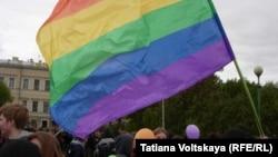 ЛГБТ-акция в Санкт-Петербурге (архивное фото)
