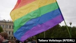Флаг ЛГБТ-движения. Иллюстративное фото.