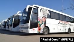 Автобусы таджикской компании «Asian Express».