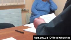 Фрагмент кадра из видео предъявления подозрения в сепаратизме.