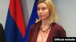 فدریکا موگرینی نماینده عالی اتحادیه اروپا در امور خارجی و پالیسی امنیتی