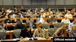 Перад праглядам фільму. Photo by Helena Milewicz, PJN Group, European Parliament