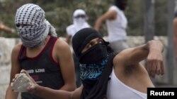 Палестинцы на границе с Изралем