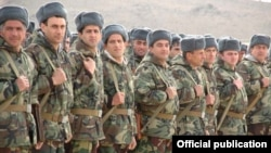 Armenia -- Army reservists begin weeklong training and exercises at a military base, 2April2011.