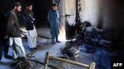 Pamje në rajonin Mohmand pas një sulmi të talibanëve