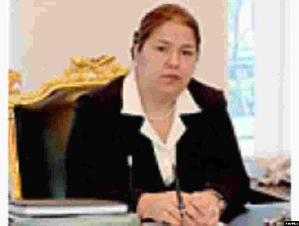 Озода Рахмон, заместитель министра иностранных дел Таджикистана. Старшая дочь президента Таджикистана.