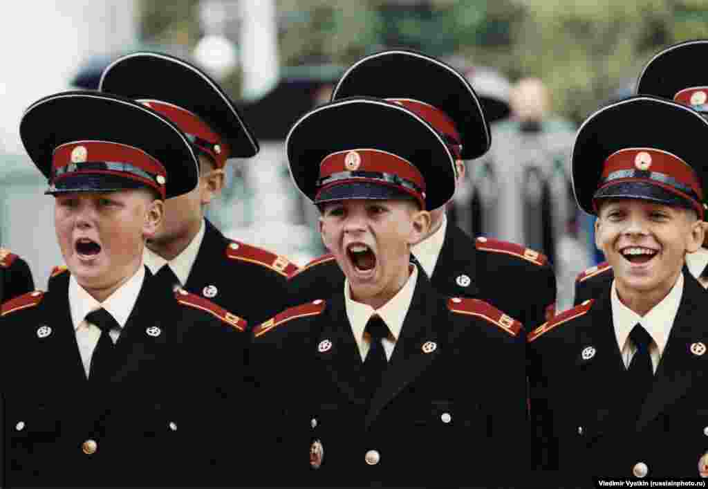 Russian Army cadets in the late 1990s.