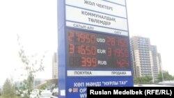 Алматыдағы теңге мен доллар бағамы. 14 қыркүйек 2015 жыл.