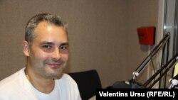 Roman Kozlovski în studioul Europei Libere