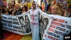 İstanbulda LGBT aksiyası