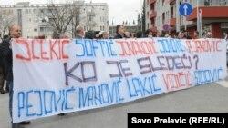 FOTOGALERIJA - Podgorica: Protesti zbog napada na novinarku, 8. mart 2012.