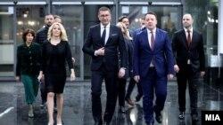 Владо Мисајловски и останатите носители на изборните листи на ВМРО-ДПМНЕ за изборите