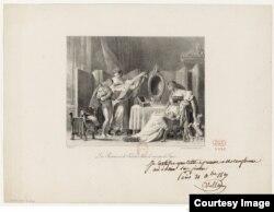 Романс Керубино. Иллюстрация Жана-Оноре Фрагонара.