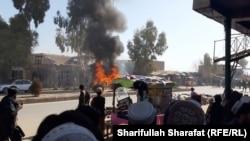 انفجار بمب در ارزگان که باعث زخمی شدن ده تن گردید.