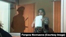 Хадзіджа Ісмаілава ў судзе, 15 кастрычніка 2015