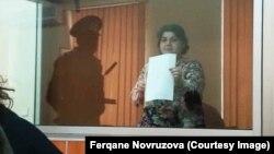 Azerbaijan. Baku. Journalist Khadija ismayilova in court in Baku - 15 october 2015