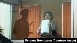 Азербайджанская журналистка Хадиджа Исмаилова на суде по ее делу. Баку, 15 октября 2016 года.