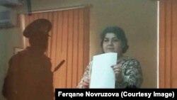 Хадиджа Исмайлова во время суда по ее делу