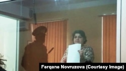 Azerbaijan. Baku. Journalist Khadija ismayilova in court in Baku - 15 october 2016