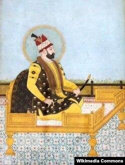 Nadir şahın xəyali portreti