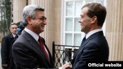Встреча президентов Армении и России в подмосковных Горках. 10 арпеля 2010 г.
