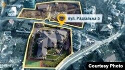 Киев, Радиальная, 5: дом Игоря Кононенко и земельный участок Петра Порошенко