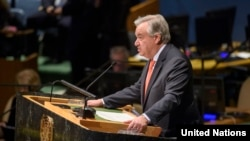 UN Secretary-General Antonio Guterres made his comments at an annual ceremony commemorating the Holocaust. (file photo)