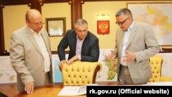 Геннадий Бахарев, Сергей Аксенов и Эрнст Мавлютов