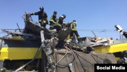 Train crash in Corato Puglia Italy