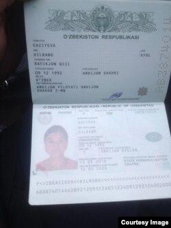 Дилрабо Газиева паспорти
