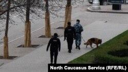 Патрулирование улиц в Грозном