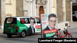 Pano elektorale të kandidatit opozitar, Gergely Karacsony.