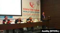 Turkey -- Scene of World Turkic forum in Istanbul, 24Apr2015