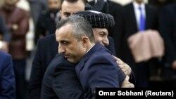 Presidenti afgan Ashraf Ghani dhe kandidati i tij për zëvendëspreside Amrullah Saleh. Fotografi nga arkivi.