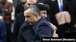 اشرف غني او په ټاکنو کې د هغه لومړ مرستیال امرالله صالح.