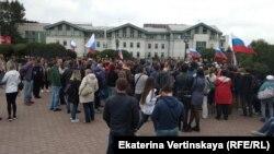 Митинг против пенсионной реформы в Иркутске, 9 сентября 2018 года