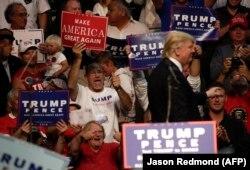 Дональд Трамп во время предвыборной кампании, август 2016 года